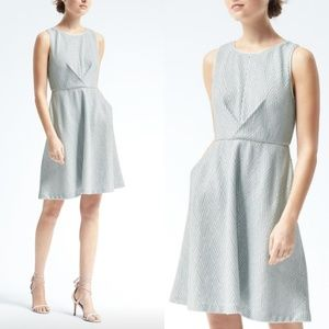Banana Republic Geo Knit Fit and Flare Dress